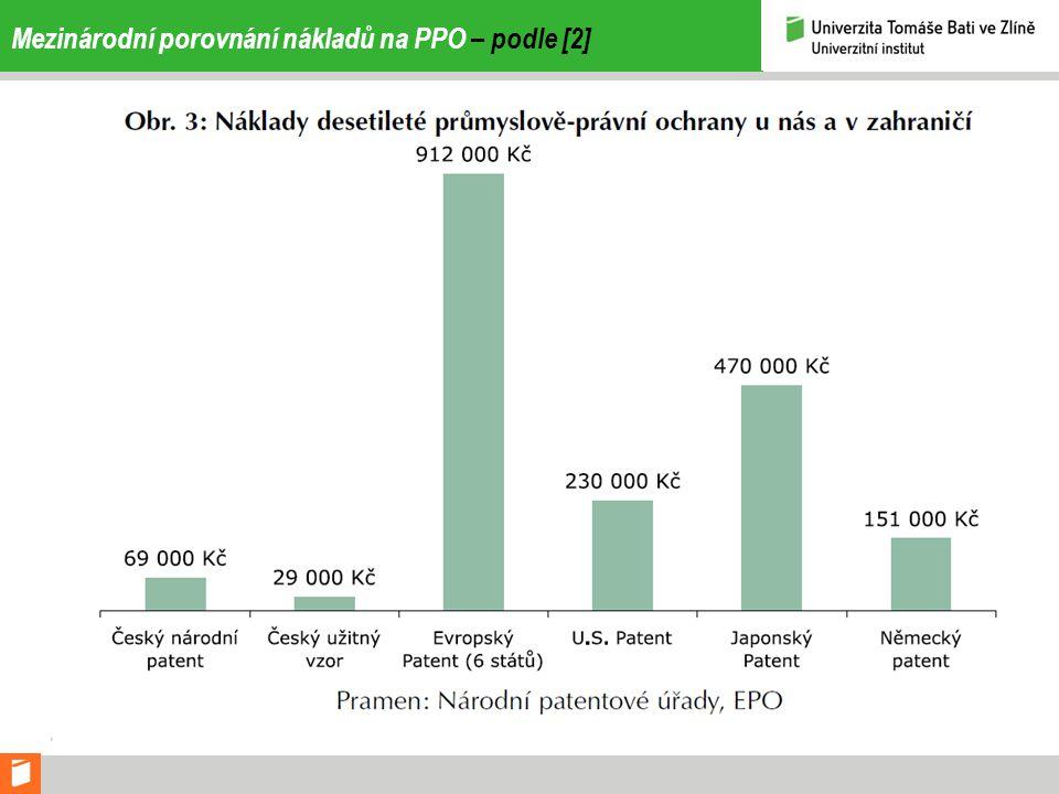 Mezinárodní porovnání nákladů na PPO – podle [2]